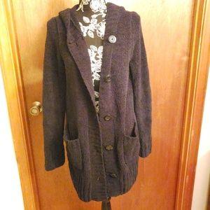 Merona fuzzy black cardigan
